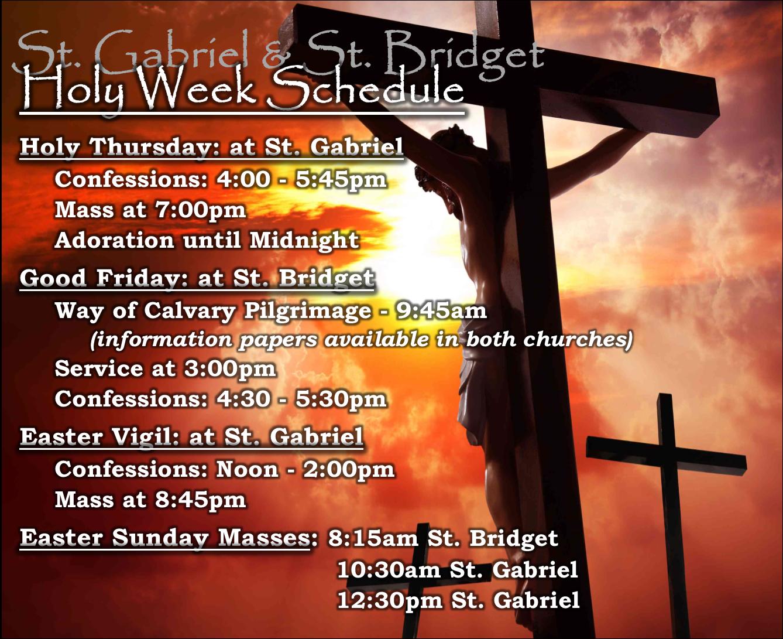Holy Week Schedule 2021 2